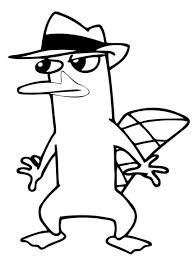 platypus coloring page printable perry the platypus coloring pages