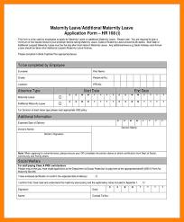 7 maternity leave form cv for teaching