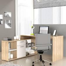 achat bureau d angle bureau d angle fixe chêne et blanc 140x136 cm achat vente