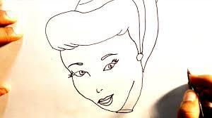 draw cinderella easy step step drawing princess