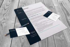Business Card Resume Resume And Business Card Set Indesign Cs4 Template