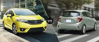 Honda Jazz Vs Honda Fit 2017 Honda Fit Vs 2017 Chevrolet Spark