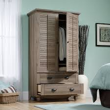sauder harbor view bookcase with doors antique white harbor view armoire salt oak hayneedle