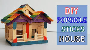diy popsicle sticks house 7 tutorial crafts ideas youtube