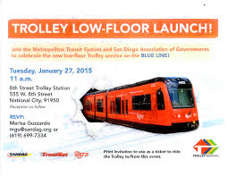 San Diego Zoning Map by Sandag Blue Line Upgraded Trolley Launch U2013 January 27 City News