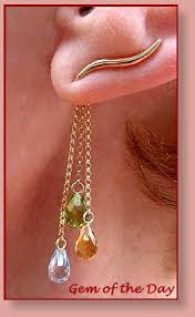 ear pins orogem gemstone dangles ear pin earrings from gem of the day