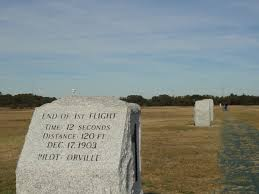 the wright brothers at kitty hawk travelling locally and