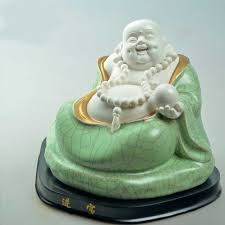 happy buddha porcelain statue is a good idea for housewarming