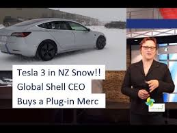 ecotec 13 tesla model 3 snow testing in nz youtube