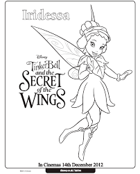 tinkerbell coloring pages iridessa