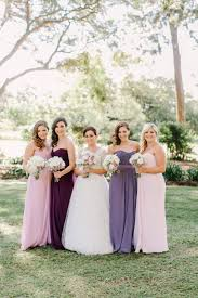 purple ombre handcrafted wedding