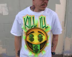 custom spray paint shirts 90s airbrush shirt etsy
