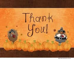 turkey thank you cards gobbles pumpkins