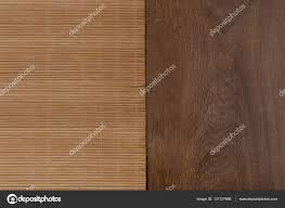 Bamboo Table Top by Bamboo Mat On Wooden Table Top View U2014 Stock Photo Vaitekune