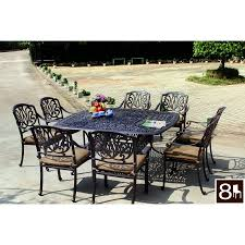 Aluminum Patio Furniture Set - shop darlee elisabeth 9 piece antique bronze aluminum patio dining