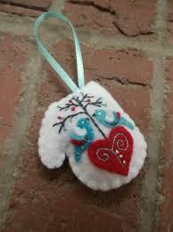 99 best felt mitten ornaments images on