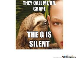 Sloth Meme Rape - rape sloth dr grape by rjxsy meme center