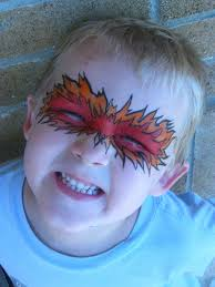 kingsley corner halloween face painting ideas flames and flowers