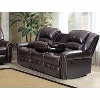 Brown Leather Reclining Sofa by 686 Burgundy Leather Reclining Sofa With Console And Nailhead Trim