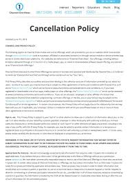 Cancellation Letter Policy Ticket Broker Cover Letter