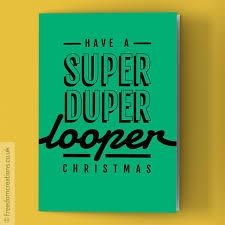 super duper looper christmas card 80s christmas film card