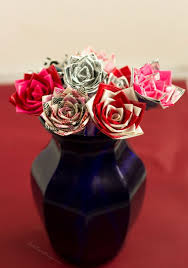 Duct Tape Flowers Vases And Pens Duck Tape Crafts How To Make Duck Tape Roses For Valentine U0027s Day