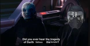 Darth Sidious Meme - did you ever hear the tragedy of darth sidious the senate