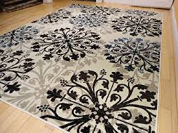 Cream And Blue Rug Black And Cream Rug Rugs Decoration