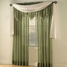 Decor Beaded Window Curtains Beaded by Crushed Voile Rod Pocket Panel Scarf Valance Sheer Curtains