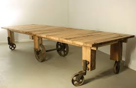 dining room cart custom industrial cart dining table by warnock woodwork