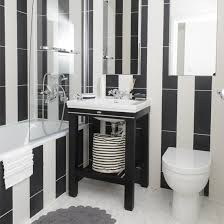 Black And White Bathroom Designs Ideal Home - Bathroom designs black and white