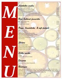 all purpose food menu template microsoft word templates