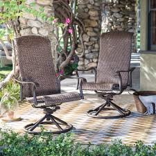 Patio Furniture With Swivel Chairs by Belham Living Charter 5 Piece Chat Set With Wheatland Fire Table