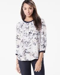 popover blouse printed crepe popover blouse rw co