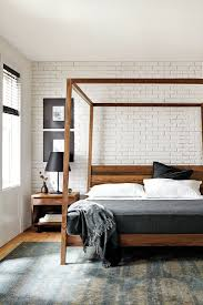 Modern Wooden Bed Frames Uk Best 25 Wood Canopy Bed Ideas On Pinterest Canopy Bed Curtains