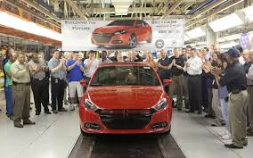 first 2013 dodge dart customer car rolls off the line