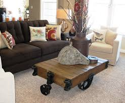 challenge yourself to make your own factory cart coffee table