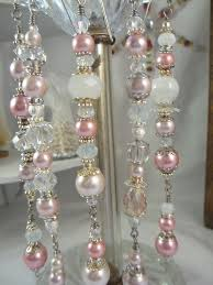 pink pearl ornament dangles by lareinedescharmes on etsy