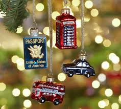 pottery barn travel ornaments chic traveler