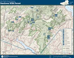 Wintergreen Map Map Showing Recreational Amenities In The Moose River Plains Wild