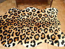 faux animal rug ebay