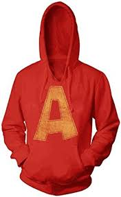 amazon com alvin and the chipmunks alvin a distressed red hoodie