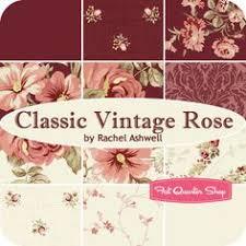 elegant vintage rose fat quarter bundle rachel ashwell for