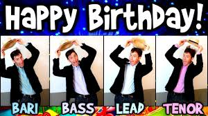 Happy Birthday Wishes For Singer Happy Birthday A Cappella Barbershop Quartet Youtube