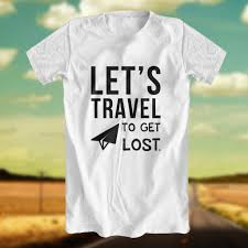 travel shirts images T shirt for men let 39 s travel white by be your quote jpg