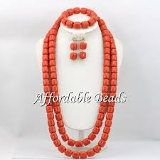 coral bead necklace images Nigerian wedding coral beads jewelry sets simple coral beads jpg