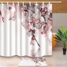 bathroom incredible asian shower curtain beautiful cherry