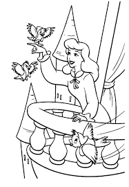 princess color pages printable coloring cinderella sheets pictures