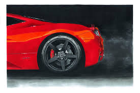 ferrari front drawing realistic car drawings interview with przemek wiecek