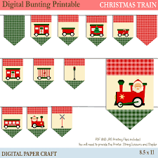 christmas train bunting printable christmas decorations instant